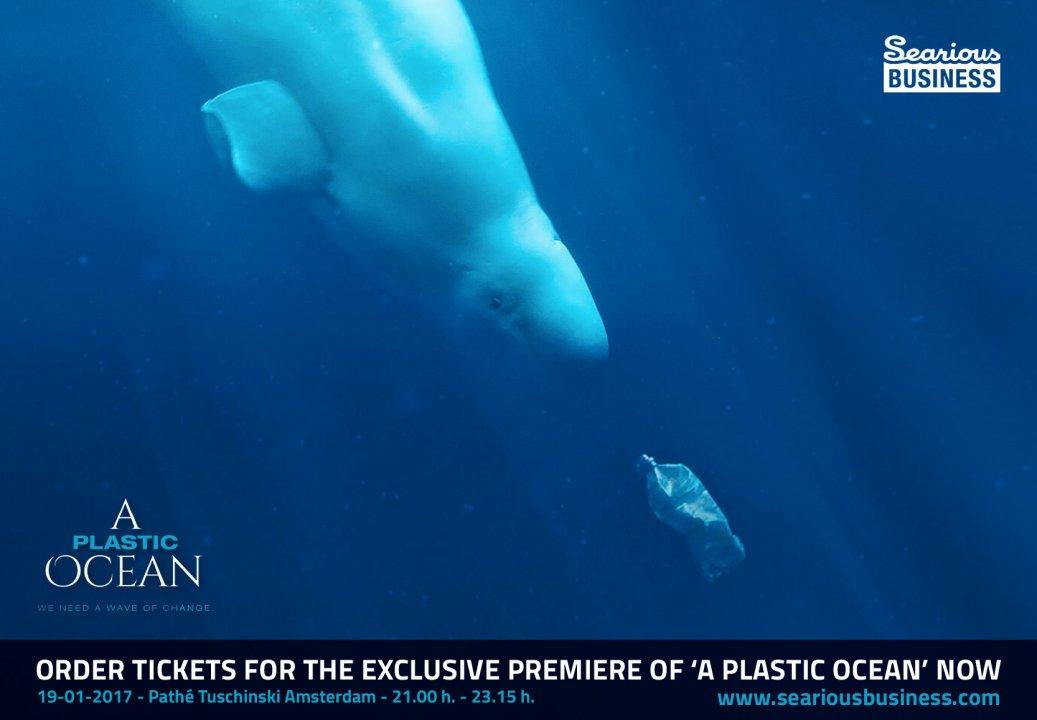 Plastic Oceaan in binnenstad Amsterdam